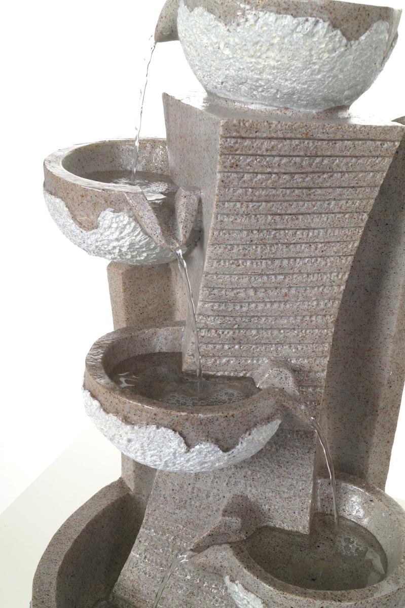 Přírodní kaskáda pokojová fontána, s LED osvětlením