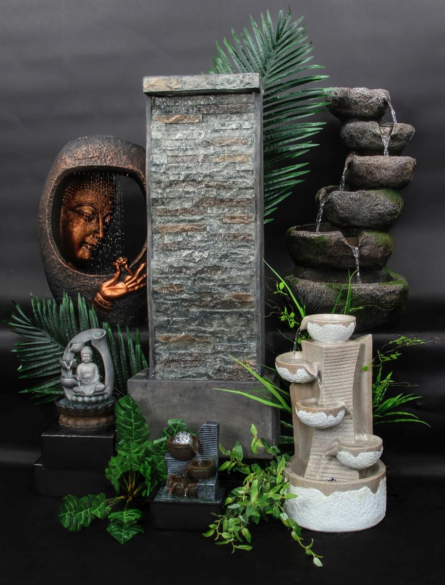 Kaskáda se zenovou koulí, pokojová fontána, s LED osvětlením