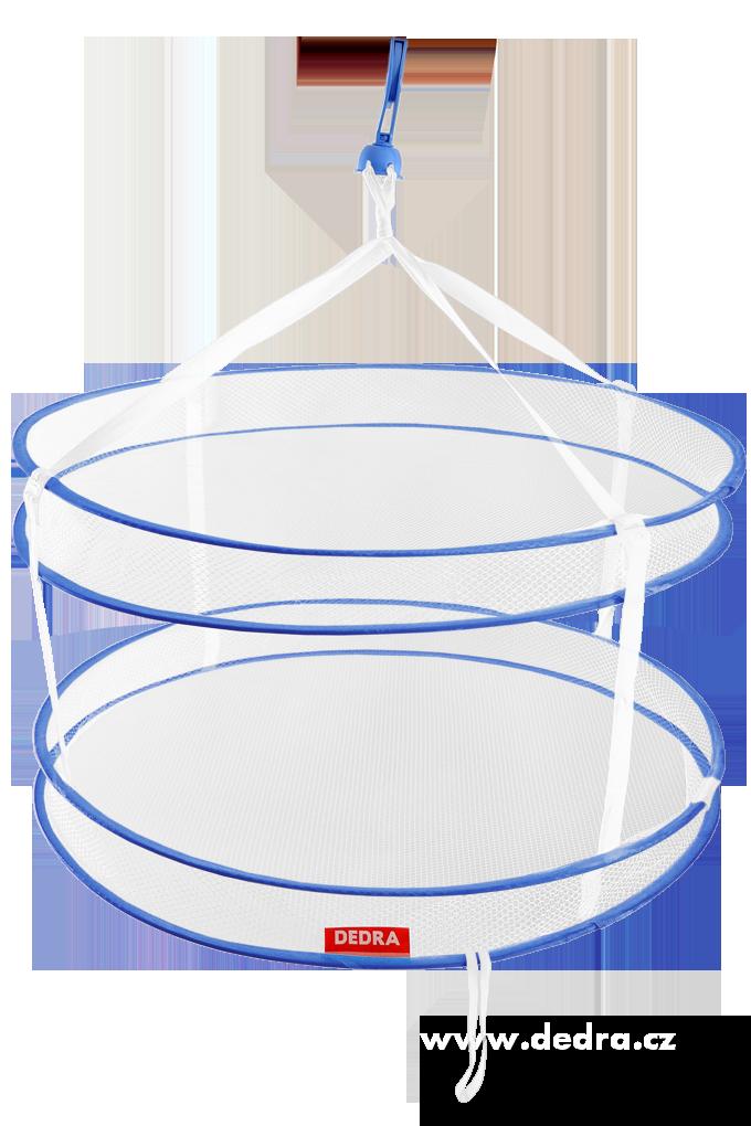 Skládací dvoupatrový univerzální sušák průměr 60 cm