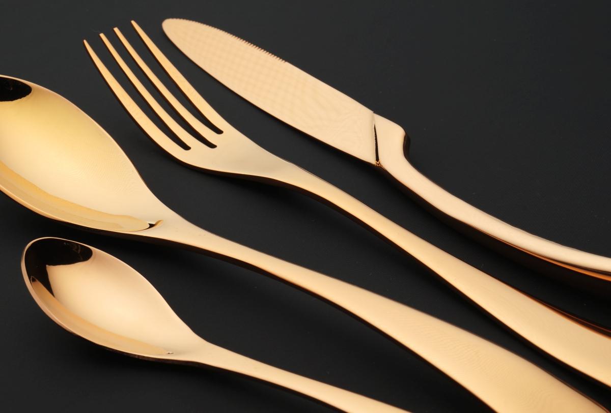FC18963-EGO II. súprava dizajnových príborov copper / rose gold