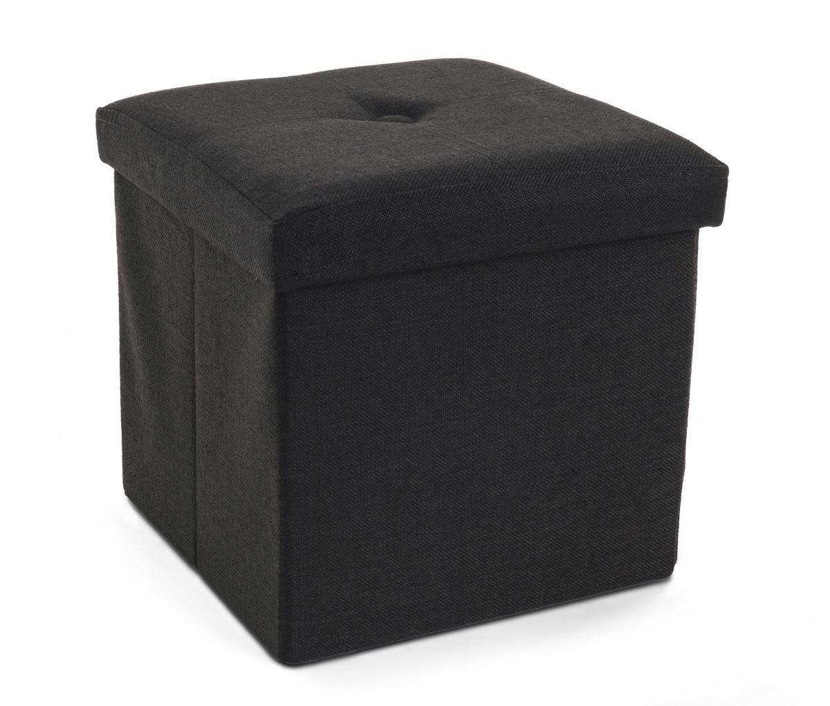 Sedací boxer skládací s úložným prostorem černý