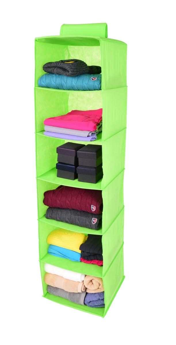 FC18833-Závesný úložný diel / organizér na oblečenie zelený