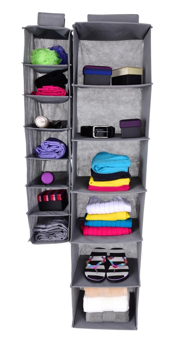 FC18832-Závesný úložný diel / organizér na oblečenie šedý