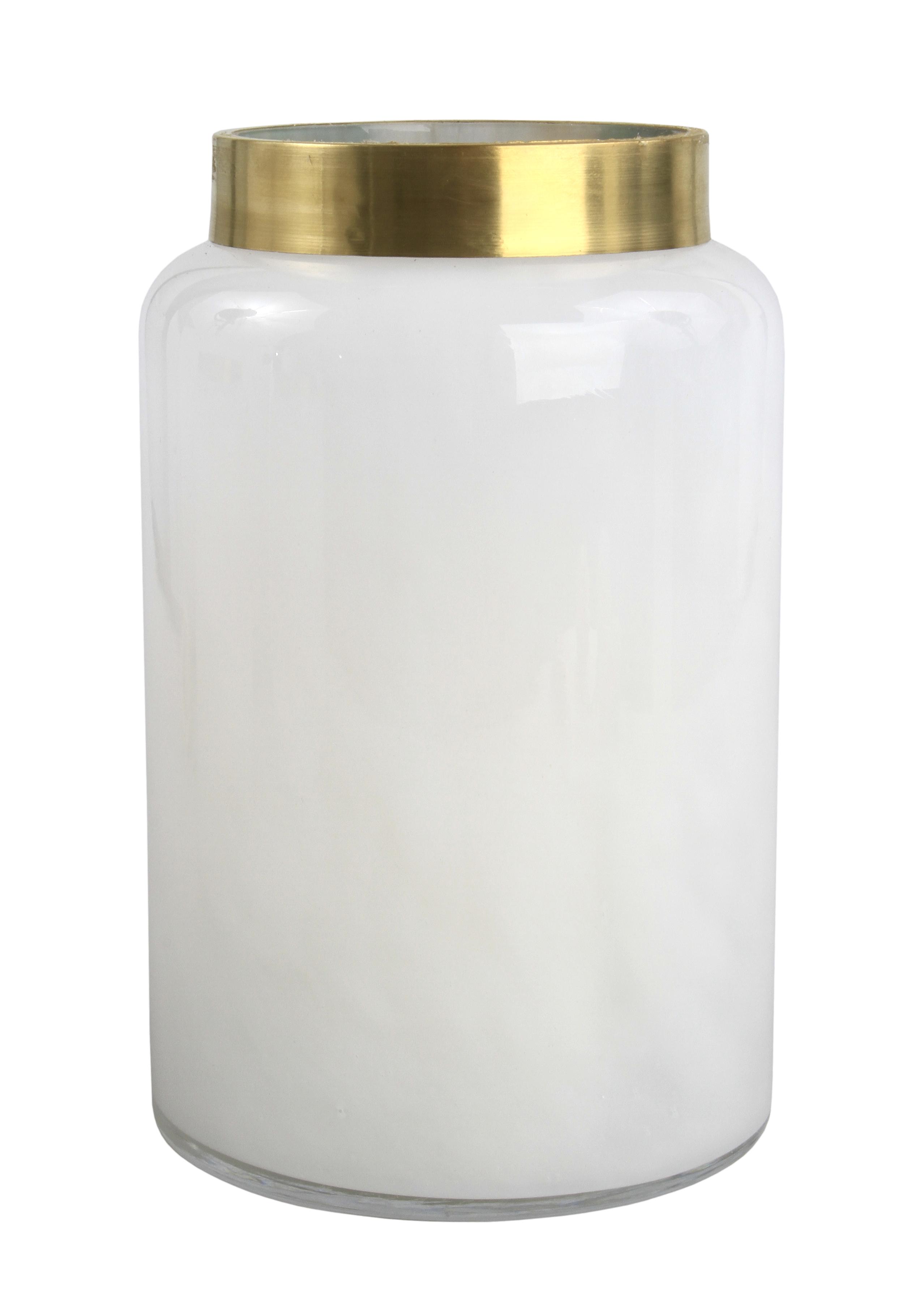 Skleněná dekorace v mléčné bílé barvě