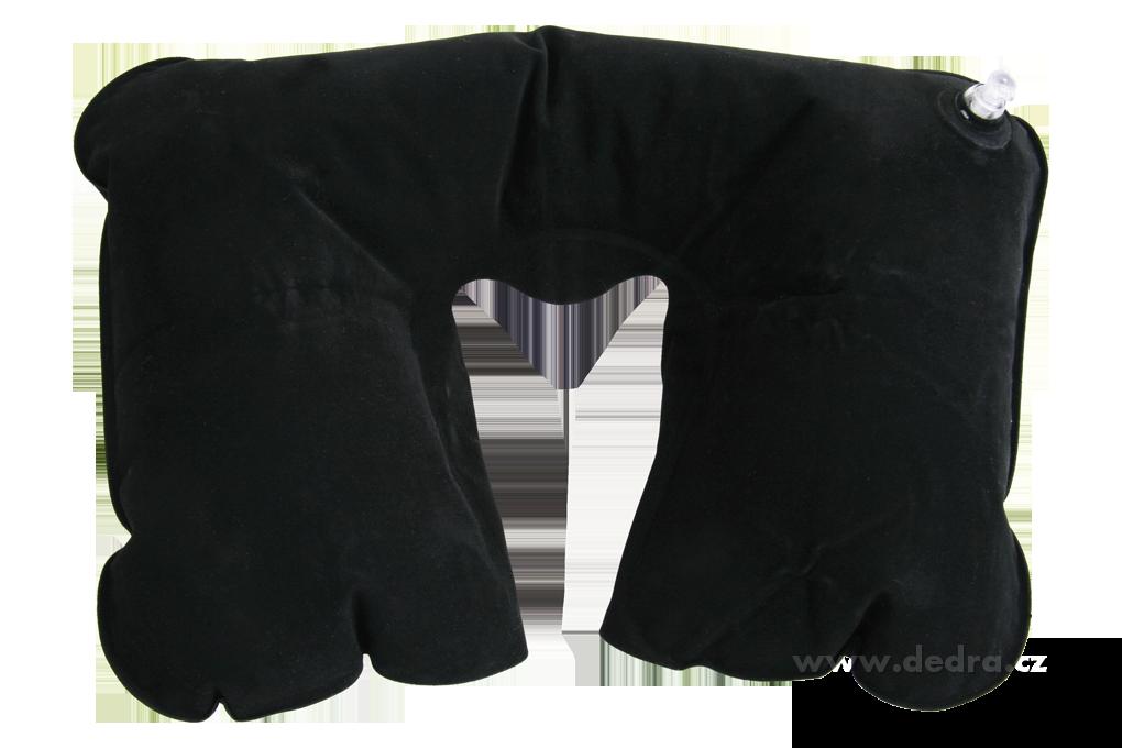 Nákrčník - cestovní nafukovací polštářek se semiš. povrchem