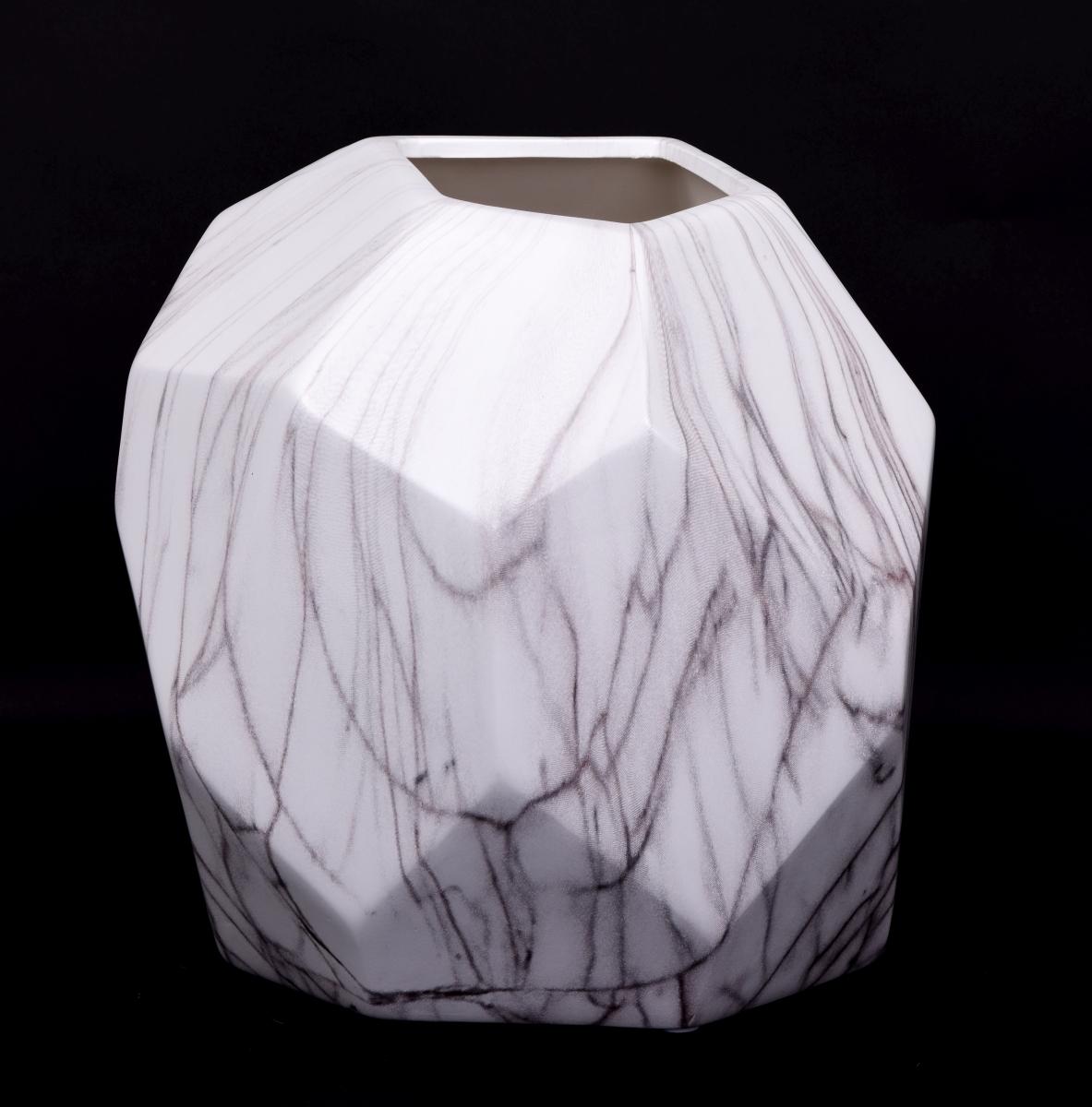 FC18344-XXL sklenená váza CUBISTICS mramor
