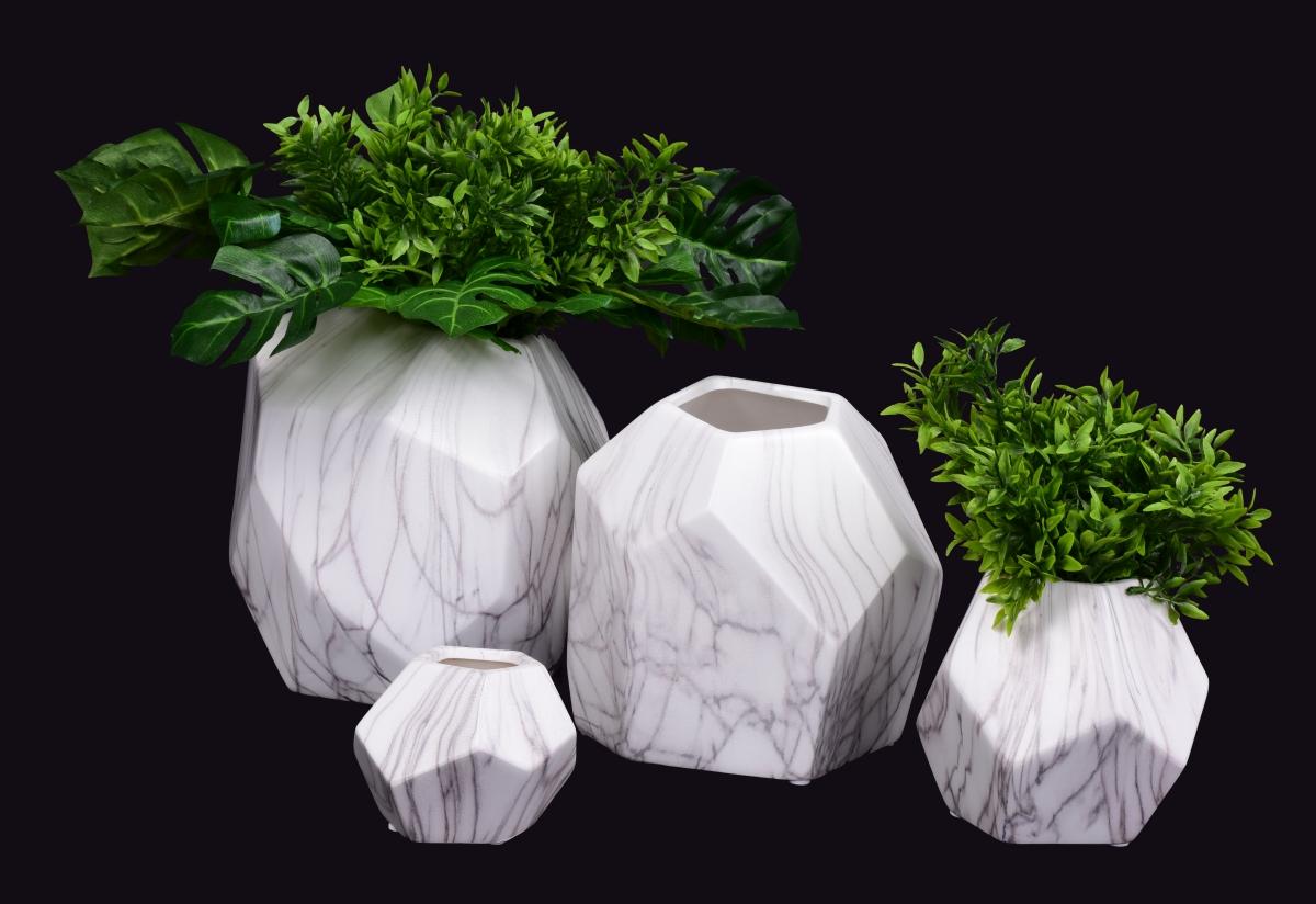 XL skleněná váza, CUBISTICS mramor