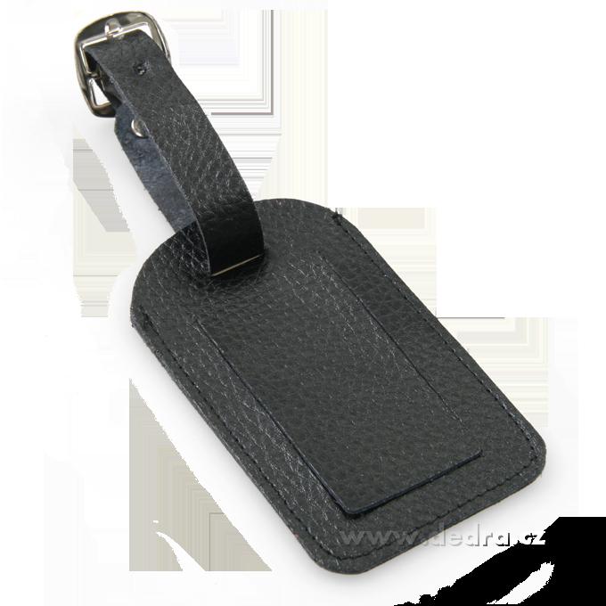 Cestovní jmenovkana kufry, černá10,5 x 6 cm