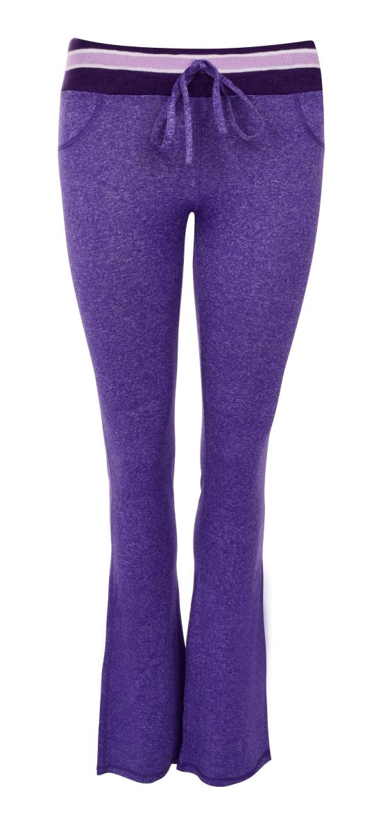 Dámské kalhoty sportovní fialová melange  vel.1(S)