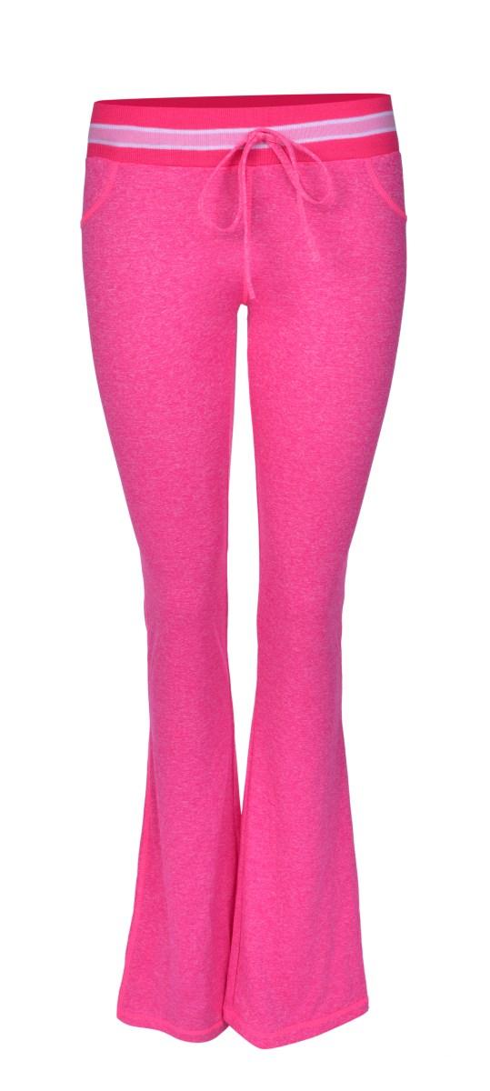 Dámské kalhoty sportovní růžová melange 1 (S)