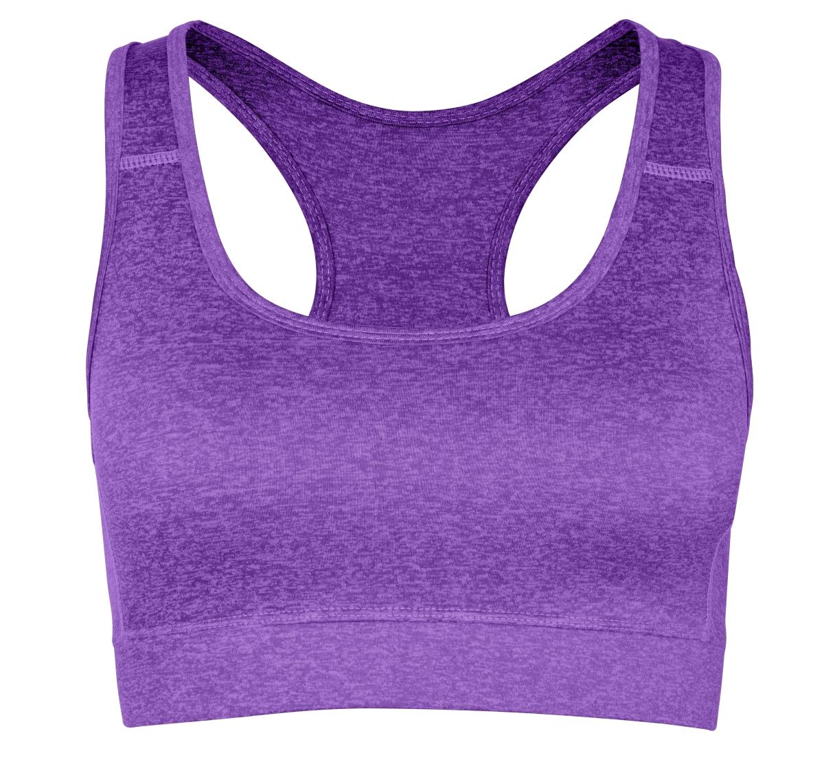 Sportovní podprsenka, fialová melange