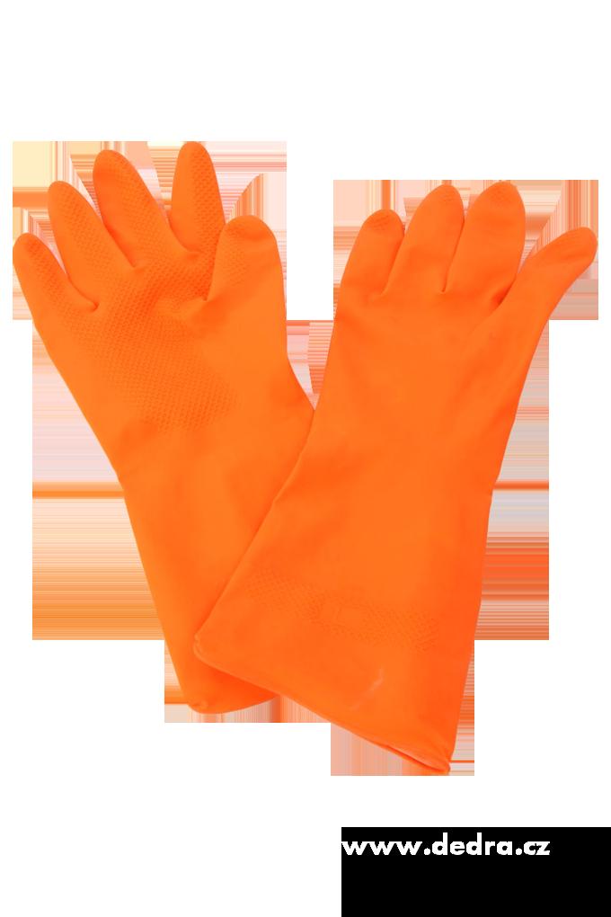 Ochranné rukavice gumové, oranžové