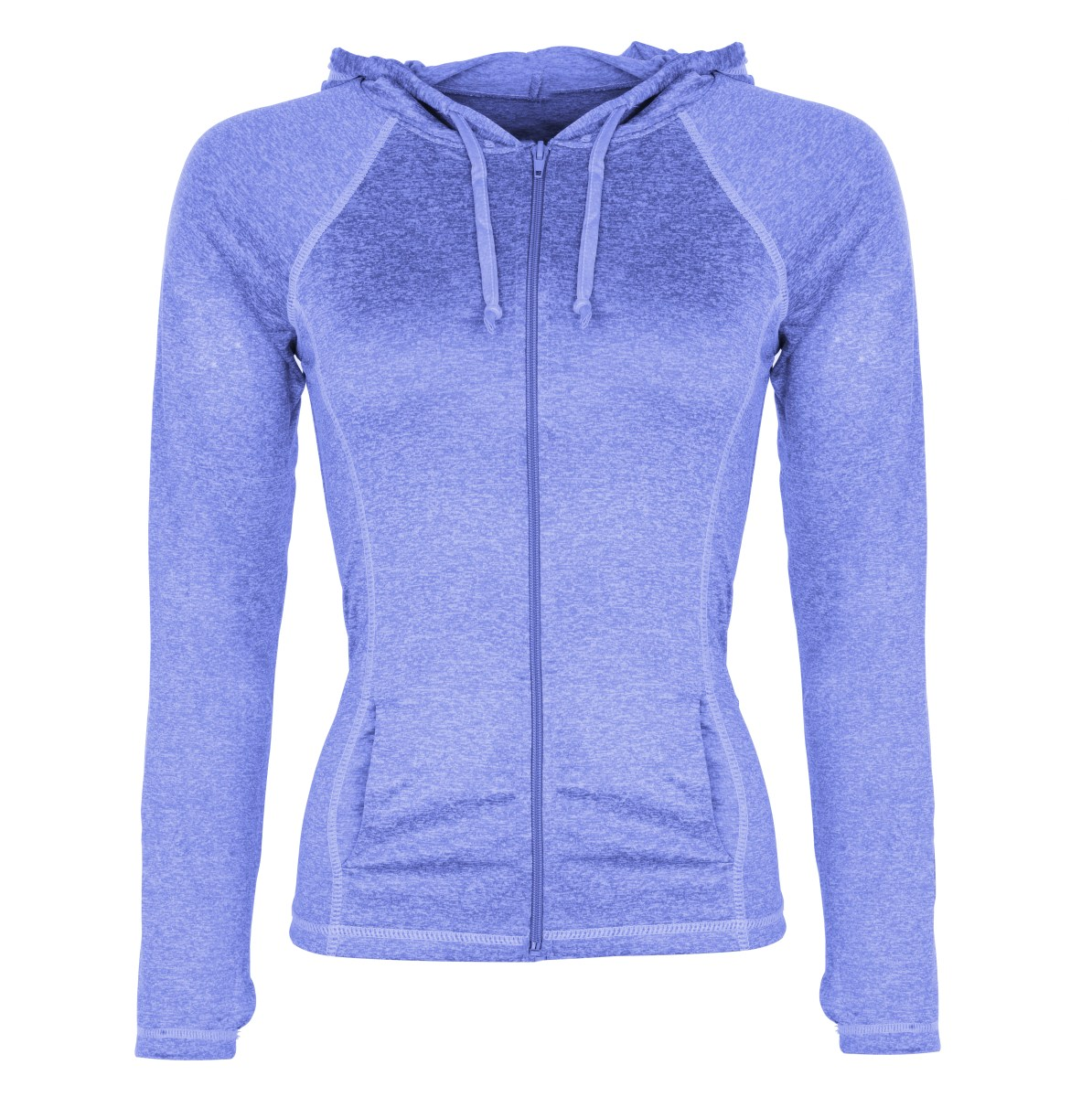 DÁMSKÁ MIKINA  na zip modrá melange 1 (S)
