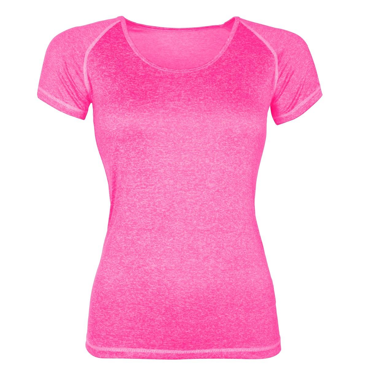 Funkční tričko dámské růžová melange 1 (S)