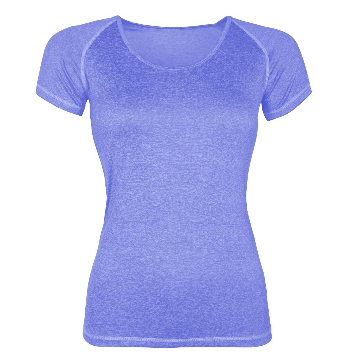 Funkční tričko dámské modrá melange 1 (S)