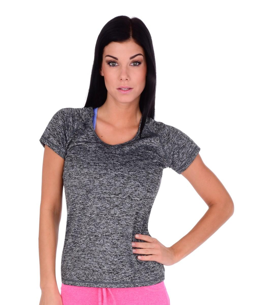 Funkční tričko dámské šedá melange 3 (L)