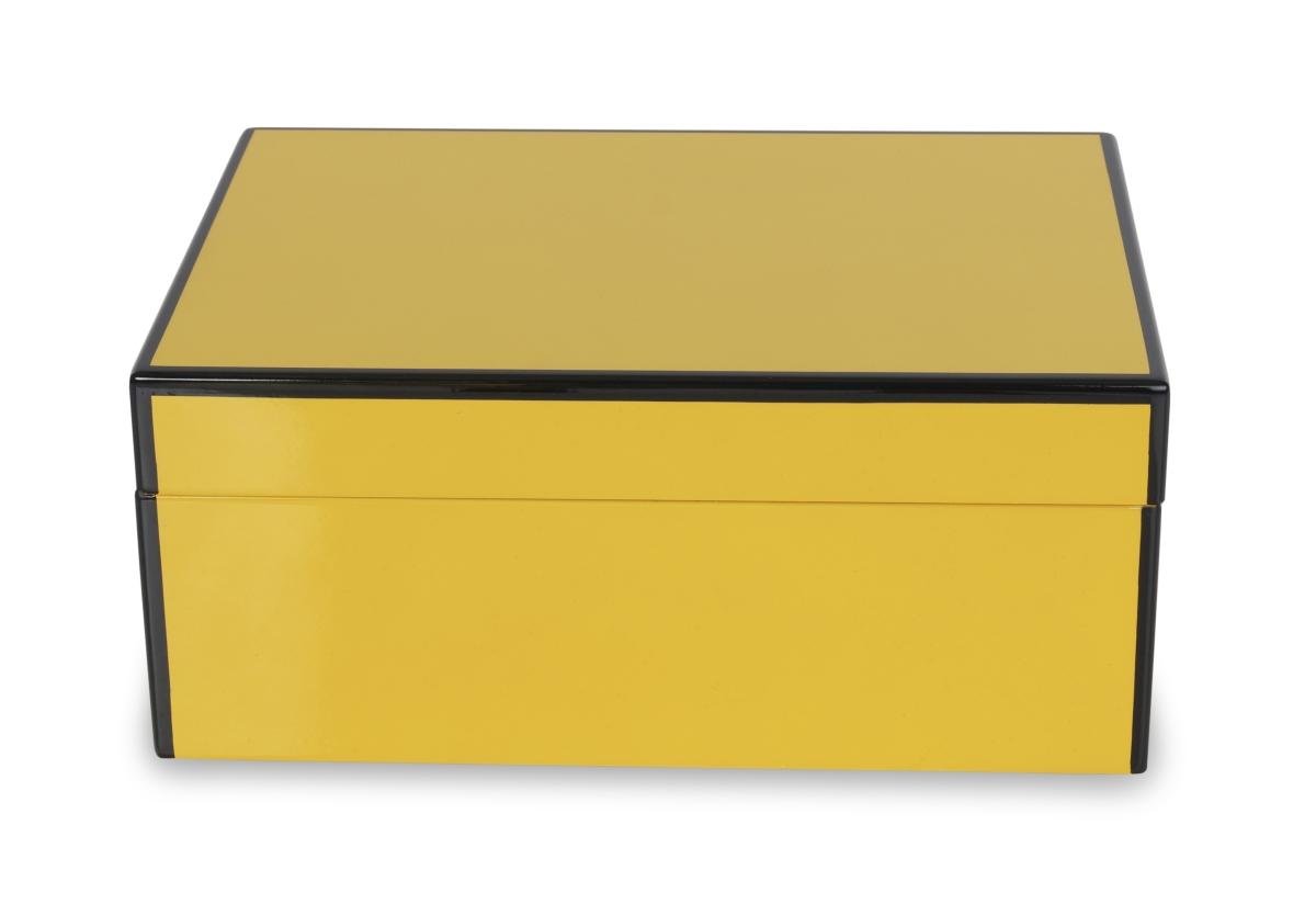 Dřevěná šperkovnice, žlutá