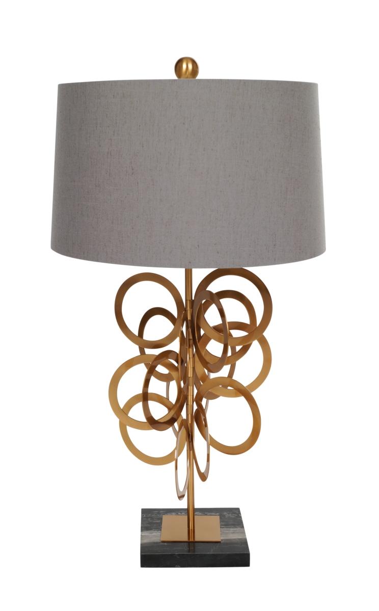 MARBLE RING  stojací lampa s kovanými efektními kruhy