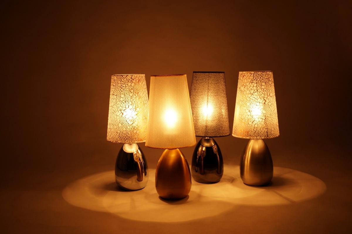 TOUCH dotyková lampa, lesklá stříbrná