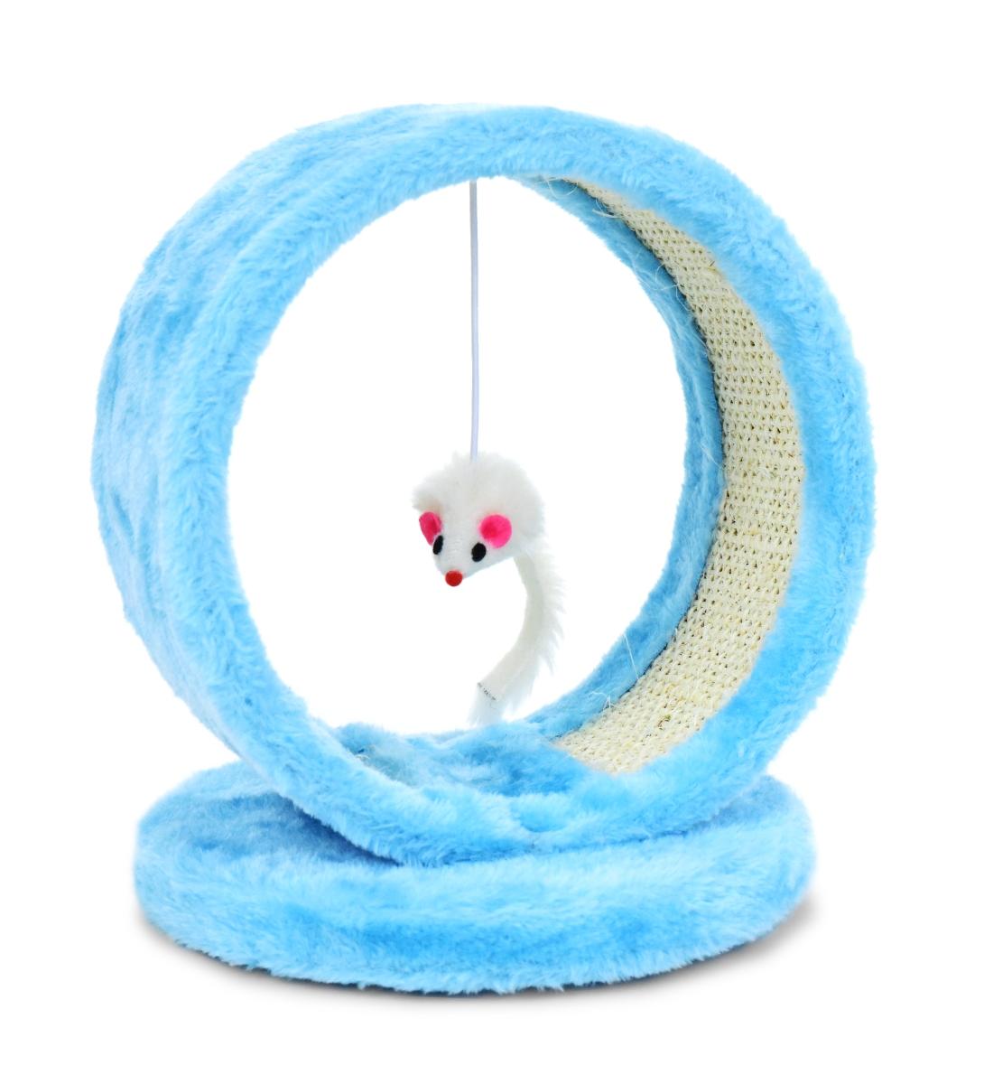 Kočičí škrabadlo uvnitř s hračkou ve tvaru myšky