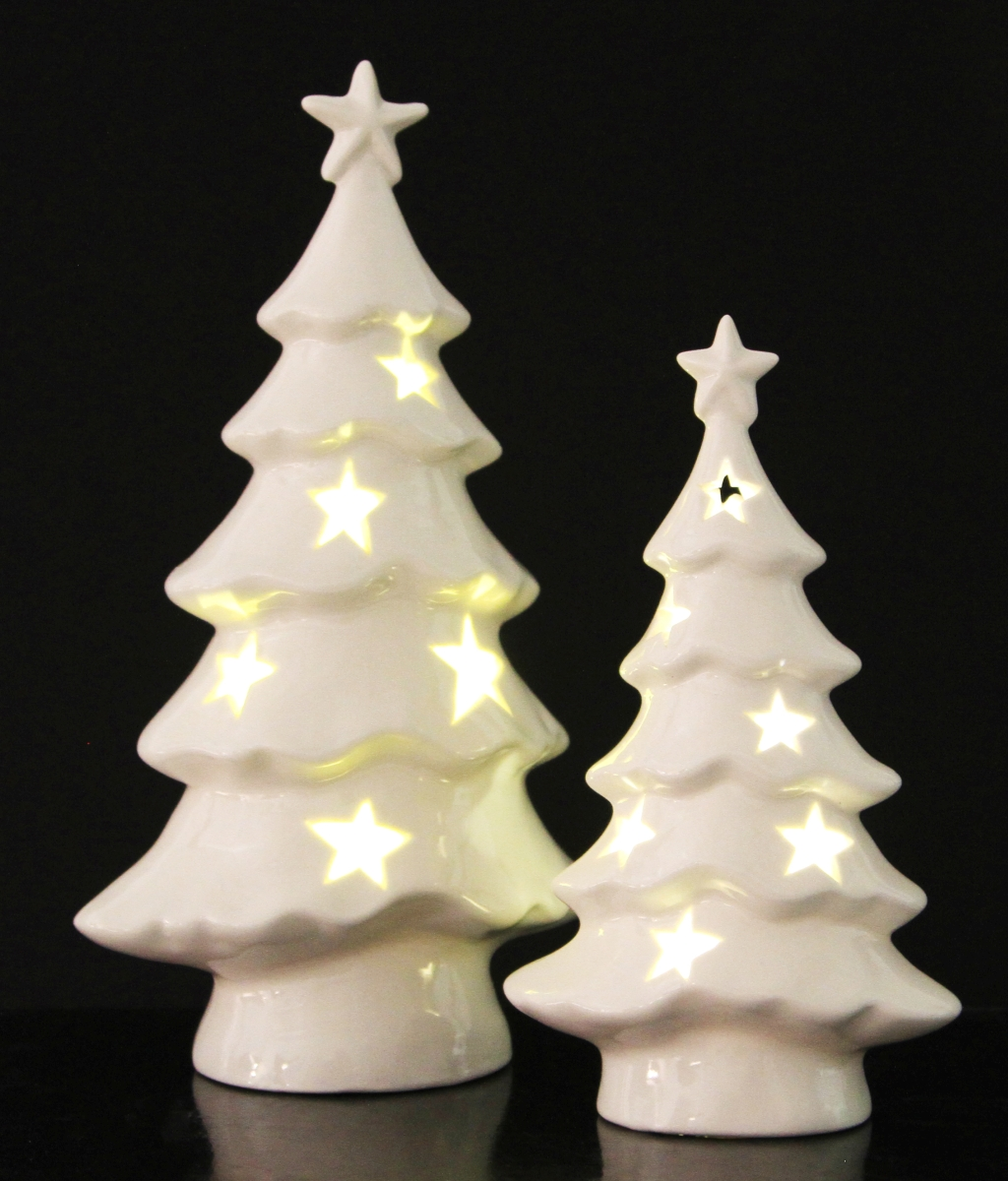 Svítící stromeček, porcelánový, v. 23 cm,