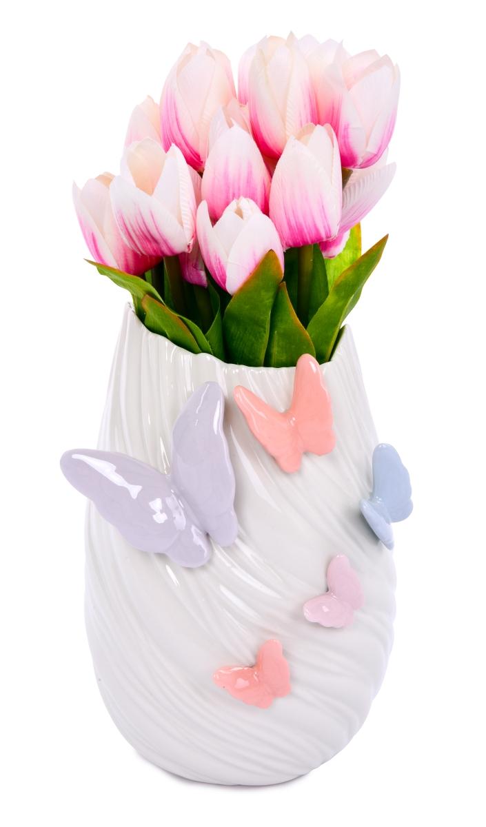 21 cm vysoká váza na květiny, BUTTERFLY COLLECTION