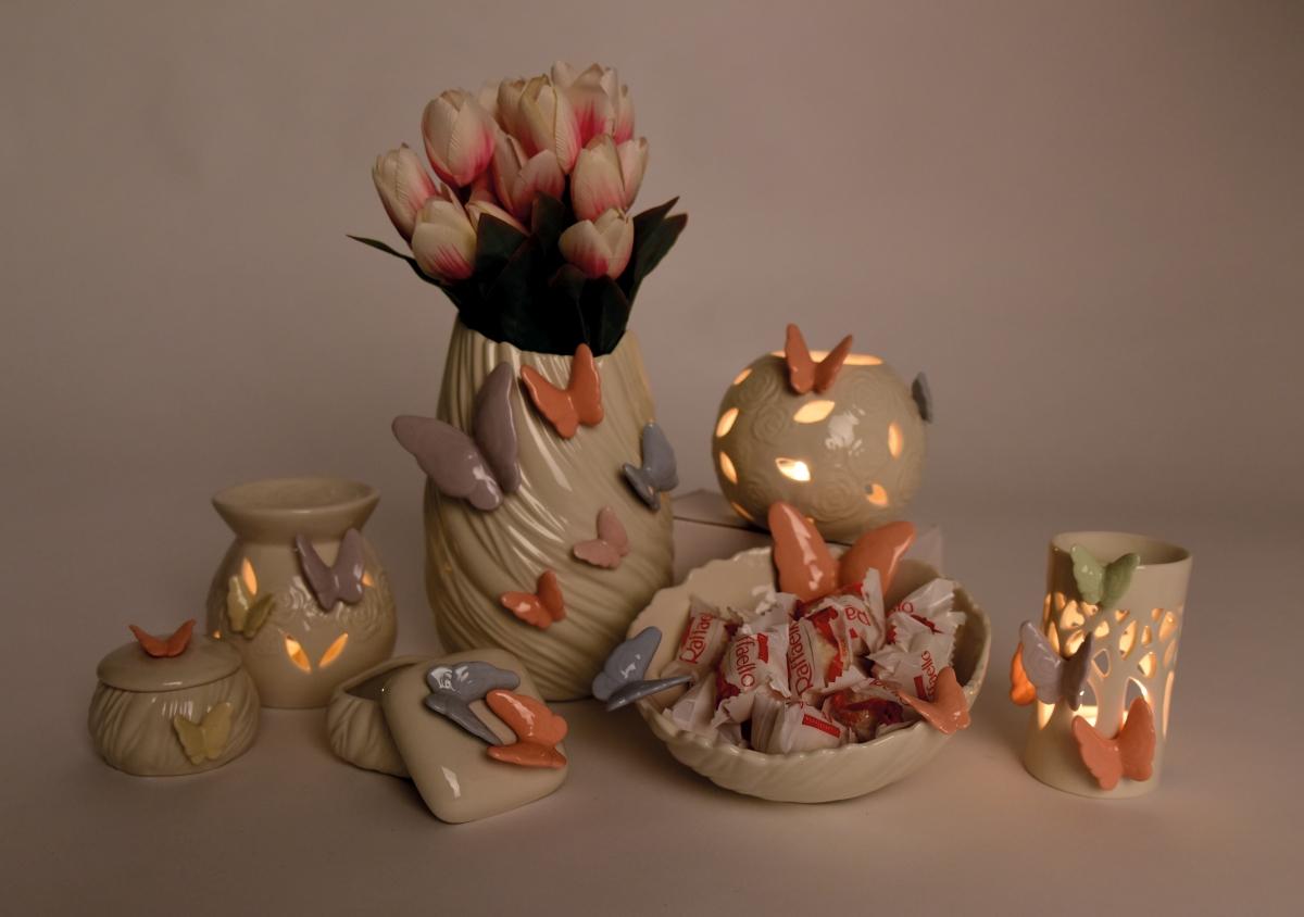 Hluboká mísa na dobroty a jiné dekorace., BUTTERFLY COLLECTION