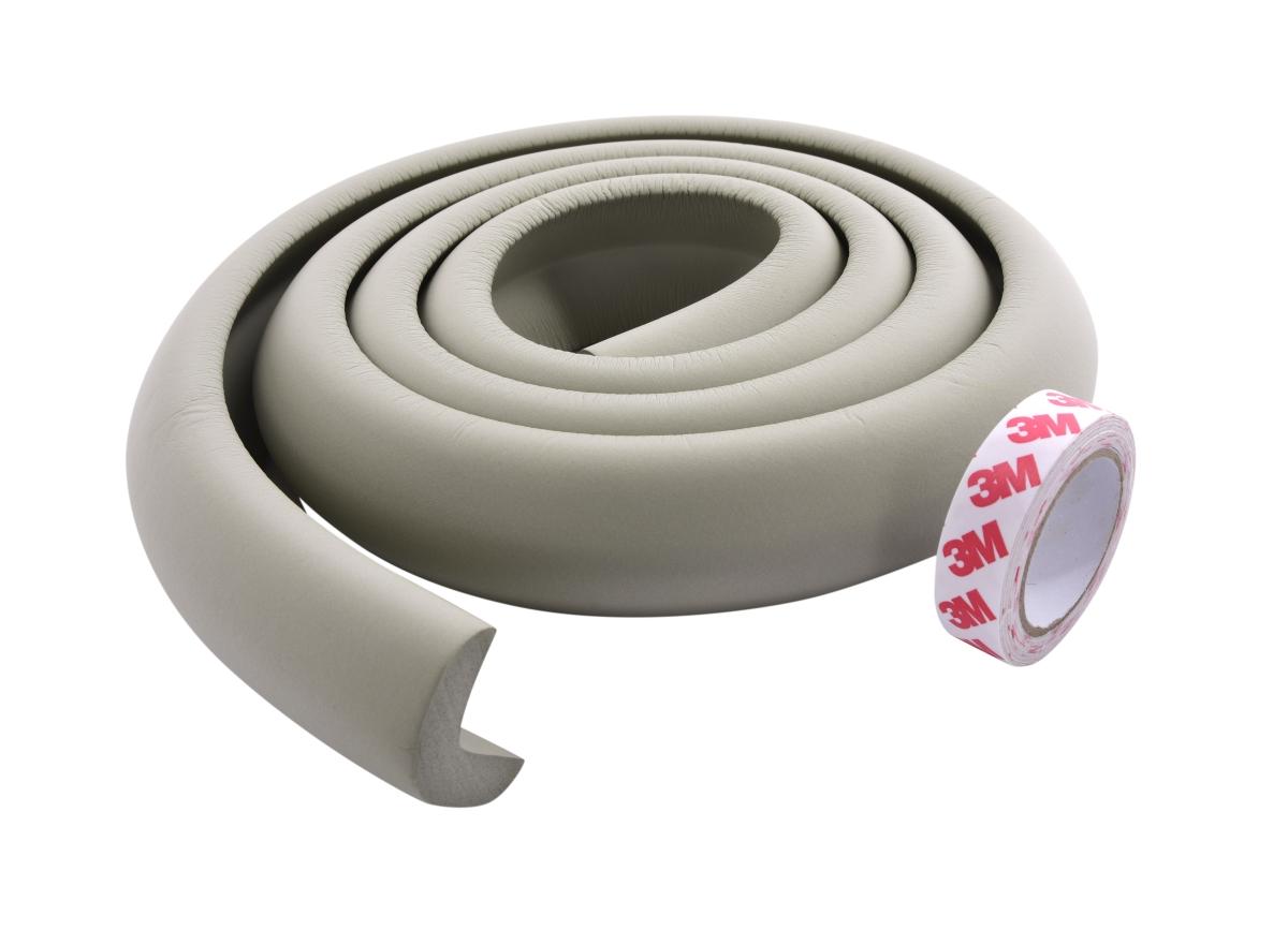 DA17503-Nárazníkovej PÁS na hrany nábytku dĺžka 2 m šedý