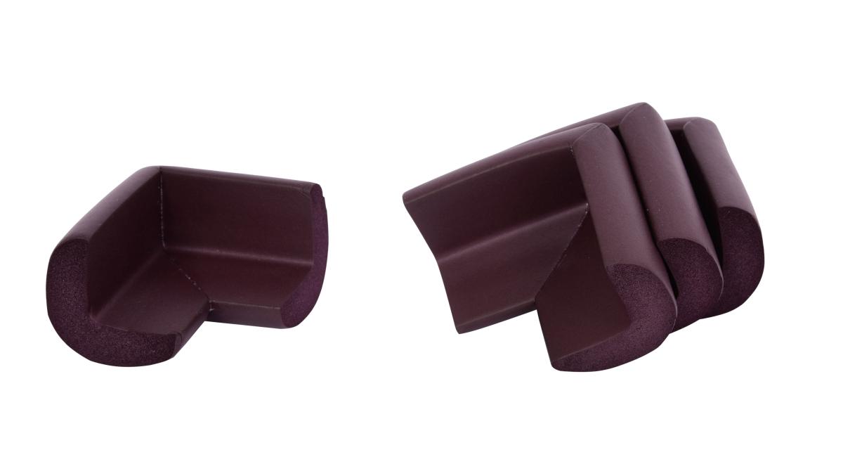 4 ks NÁRAZNÍK na rohy nábytku, čokoládově hnědý