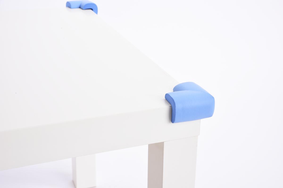 4 ks NÁRAZNÍK na rohy nábytku, nebesky modrý