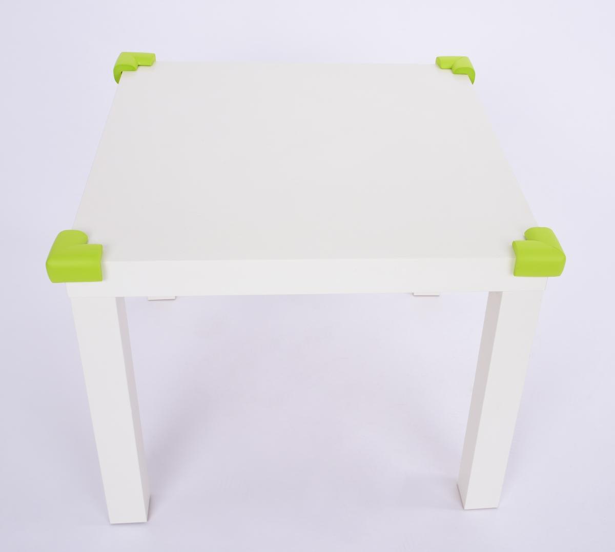 4 ks NÁRAZNÍK na rohy nábytku, hráškově zelený