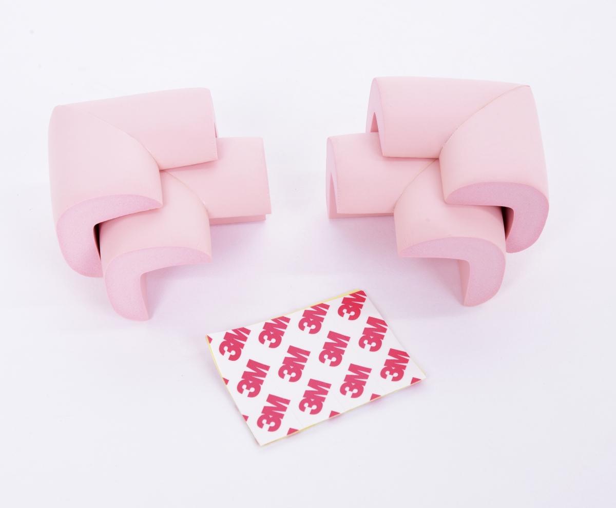 DA17472-4 ks NÁRAZNÍK na rohy nábytku svetlo ružový