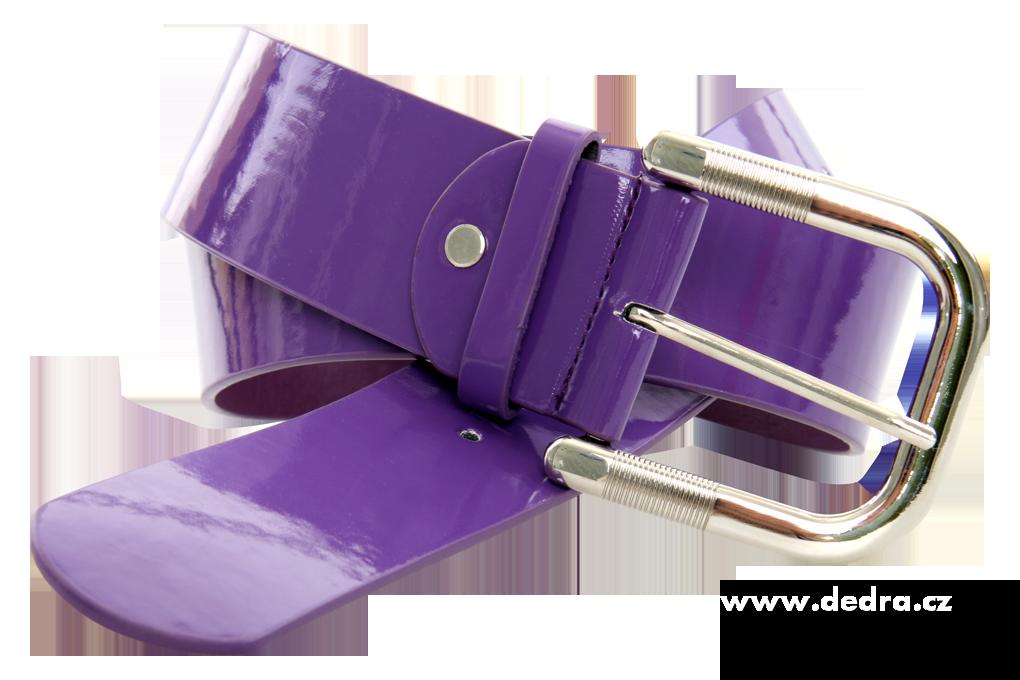 Dámský pásek z ekokůže fialový lesklý