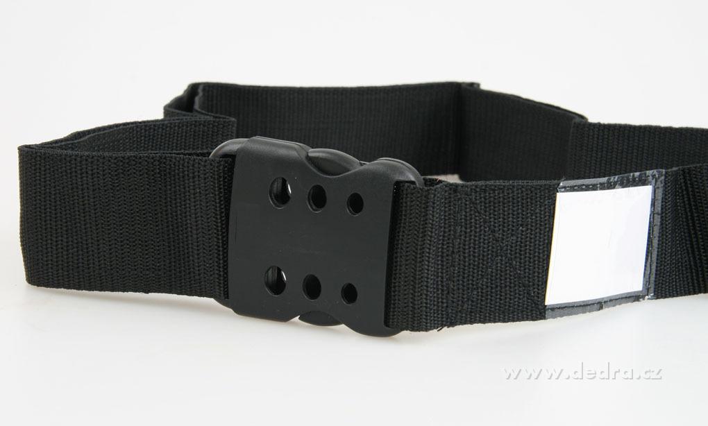 Popruh na kufr, černý