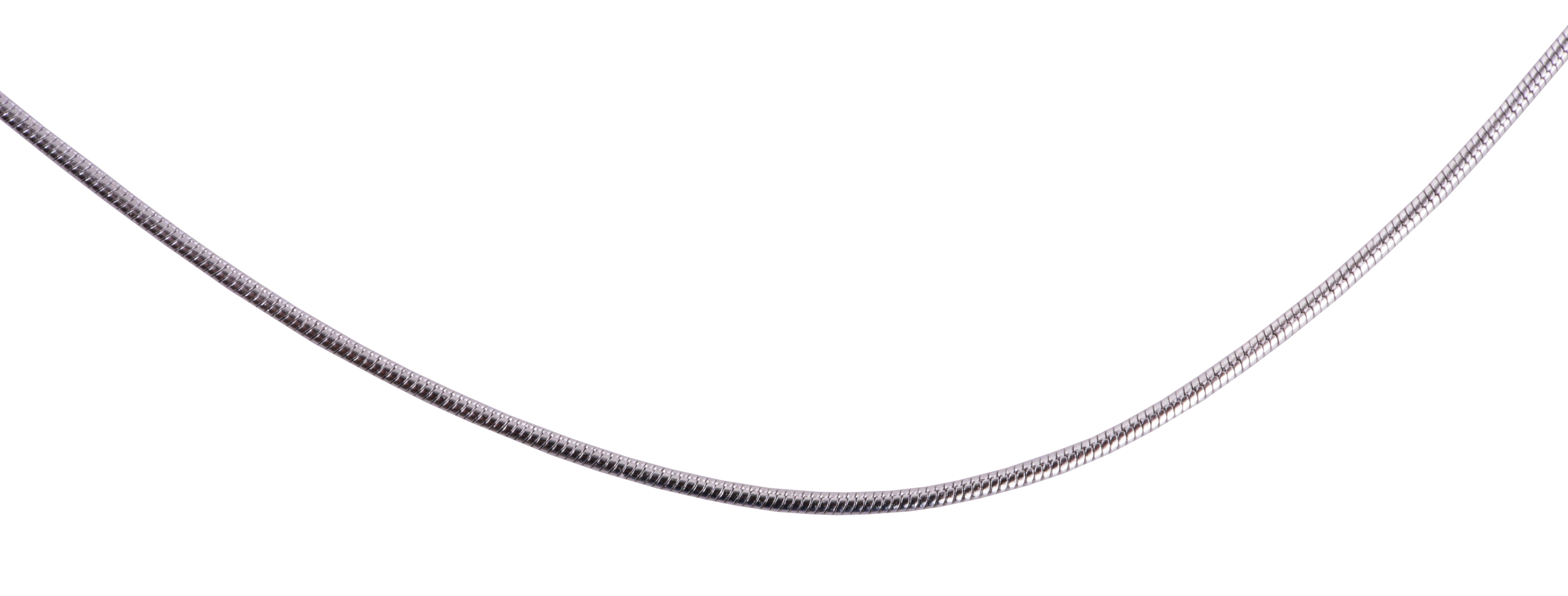 FC17131-Okrúhly retiazka 60 cm rhodiováno hrúbka 1 mm