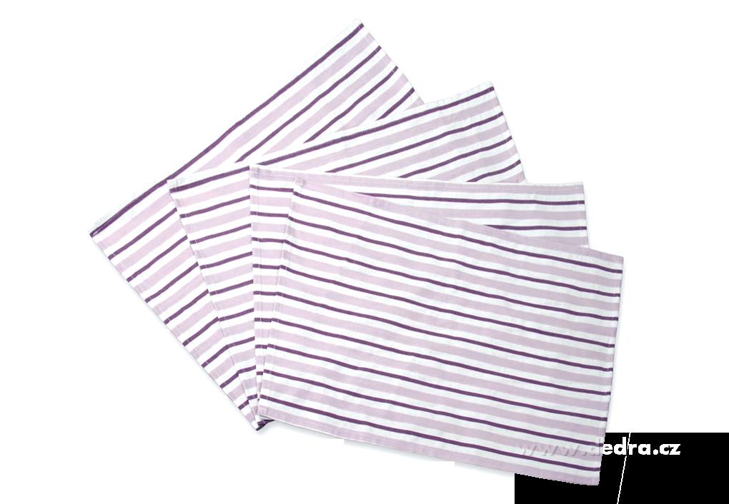 4 ks prostíránífialkové s proužky35 x 50 cm
