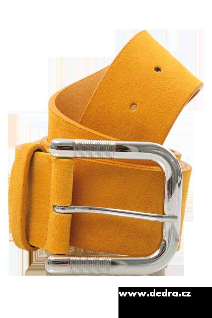 Dámský pásek, žloutkový broušený