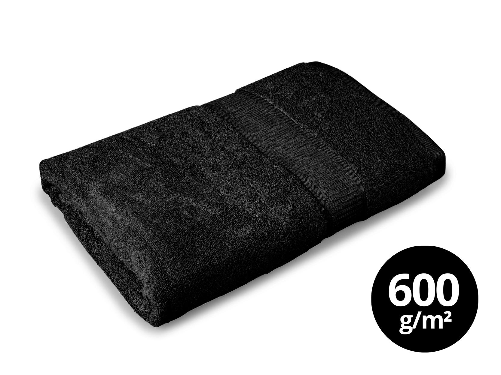 BAMBOO osuška  s elegantní bordurou černá
