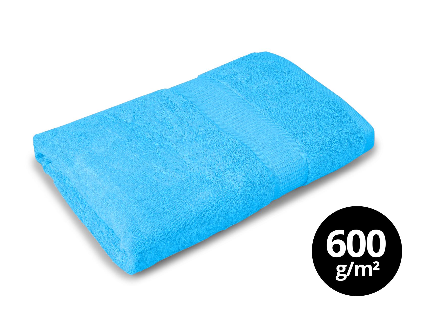 BAMBOO osuška  s elegantní bordurou modrá