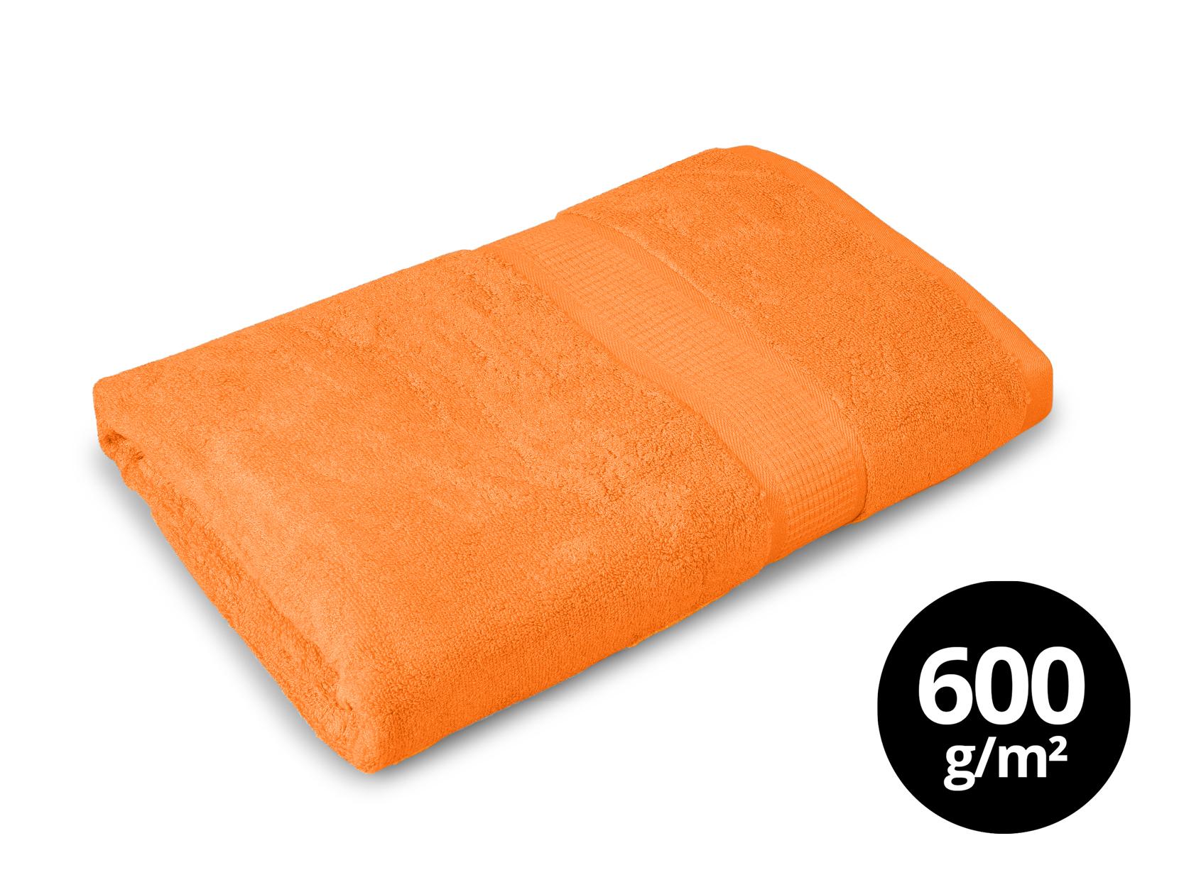BAMBOO osuška s elegantní bordurou oranžová