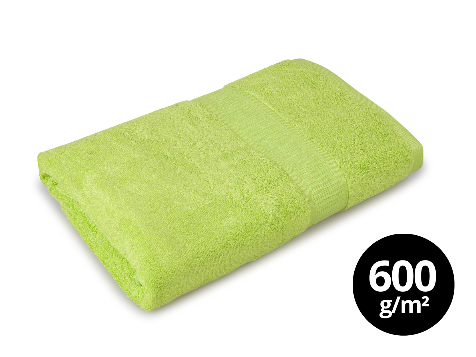 BAMBOO osuška  s elegantní bordurou zelená