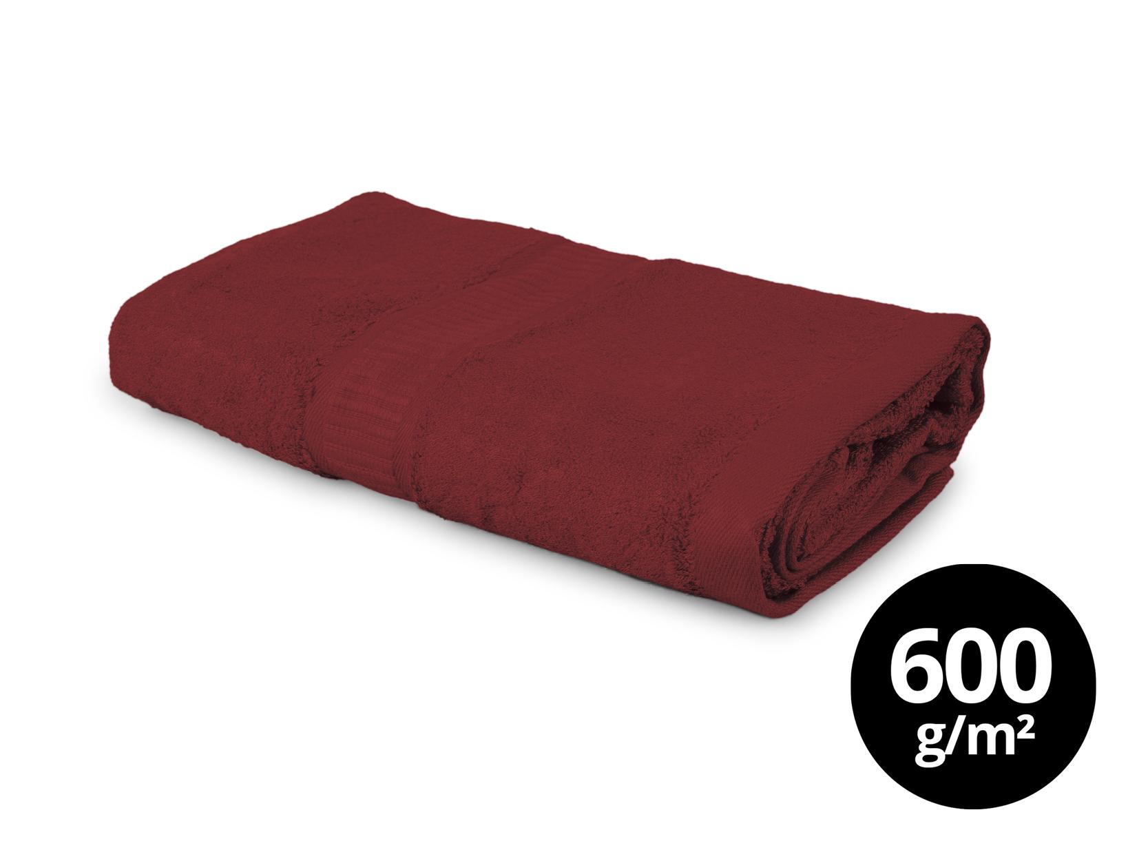 BAMBOO velký ručník  s elegantní bordurou čokoládový