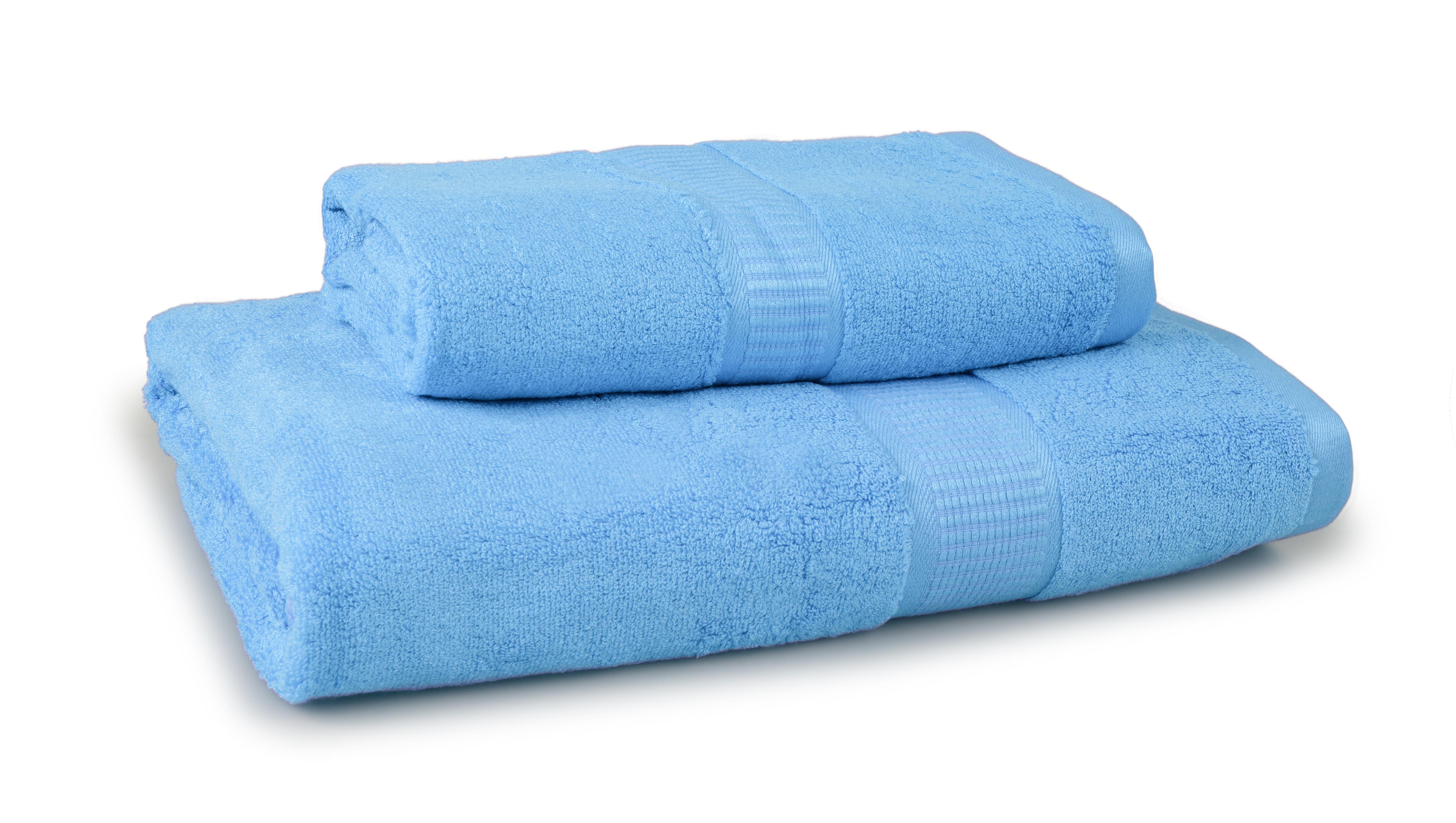 FC17014-BAMBOO veľký uterák s elegantnou bordúrou modrý