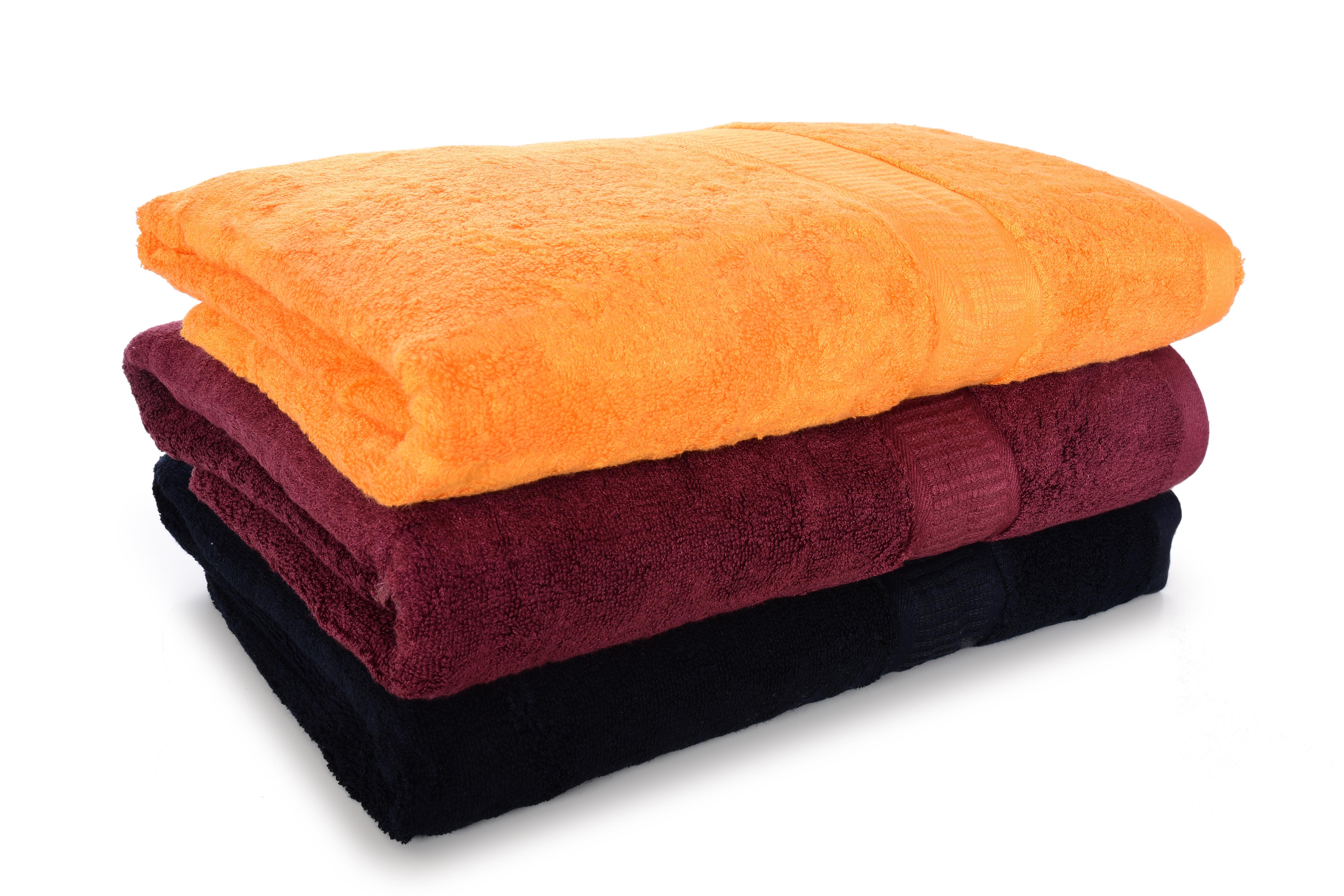FC17012-BAMBOO veľký uterák s elegantnou bordúrou oranžový