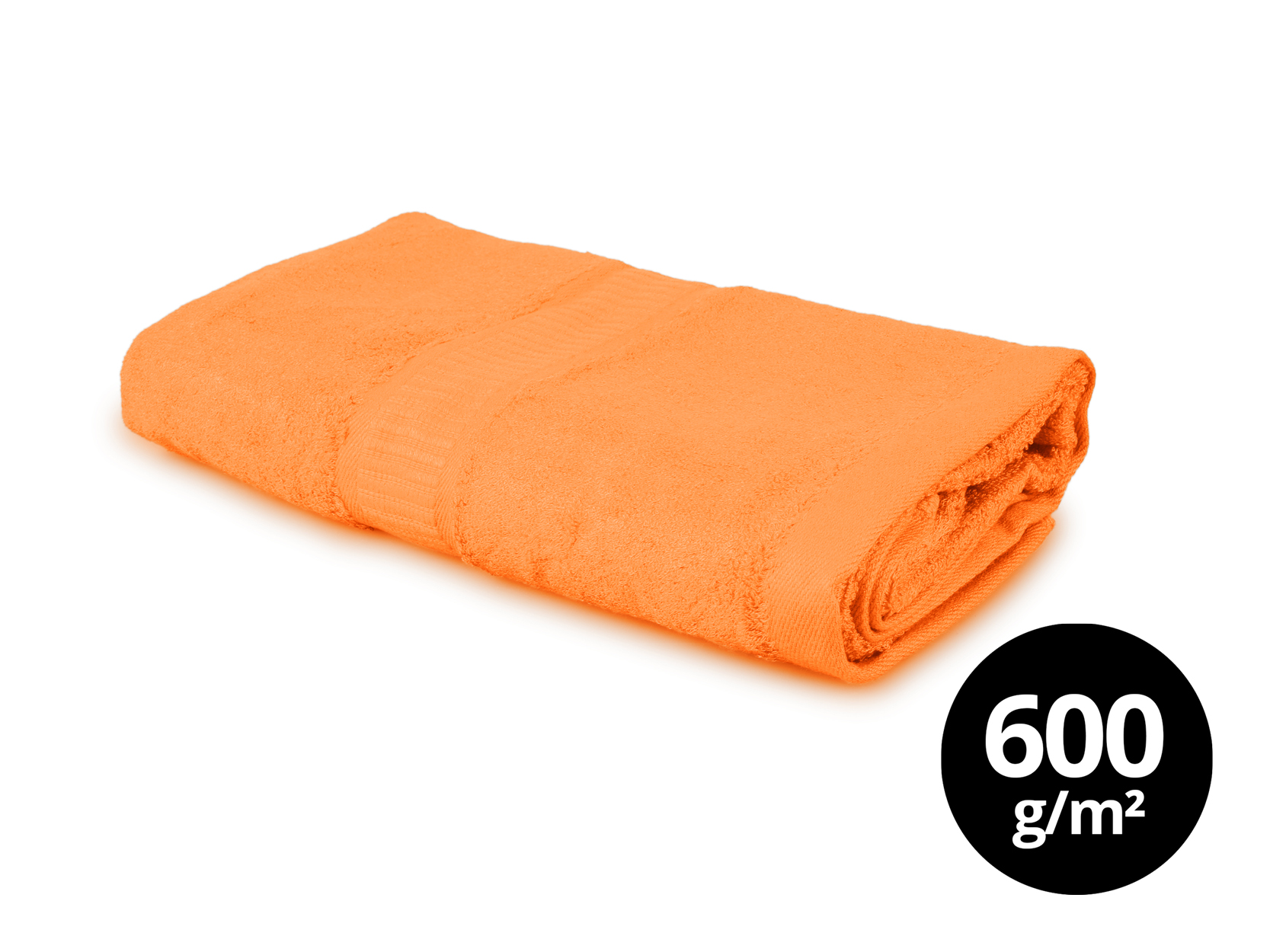 BAMBOO velký ručník  s elegantní bordurou oranžový