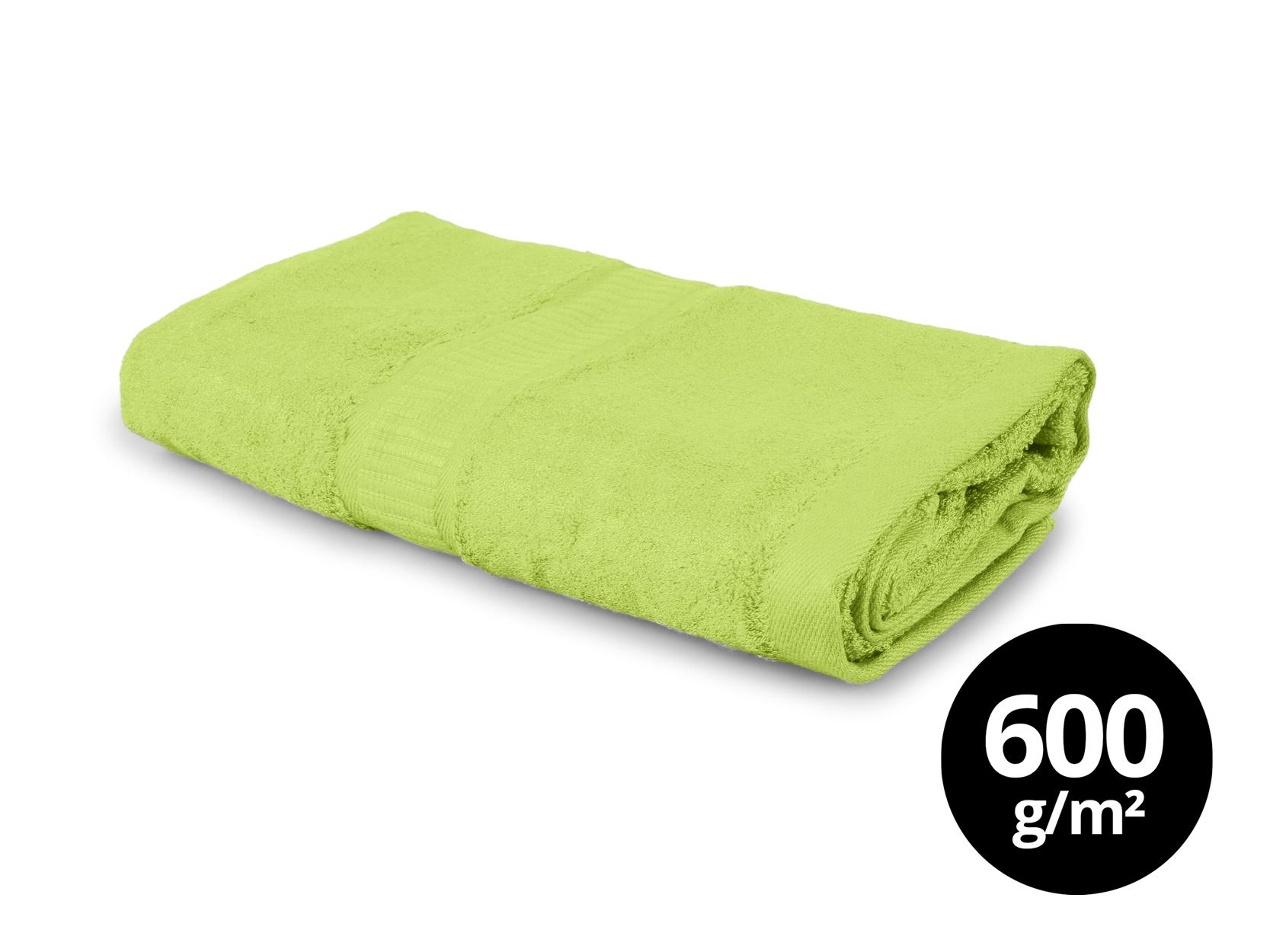 BAMBOO velký ručník  s elegantní bordurou zelený