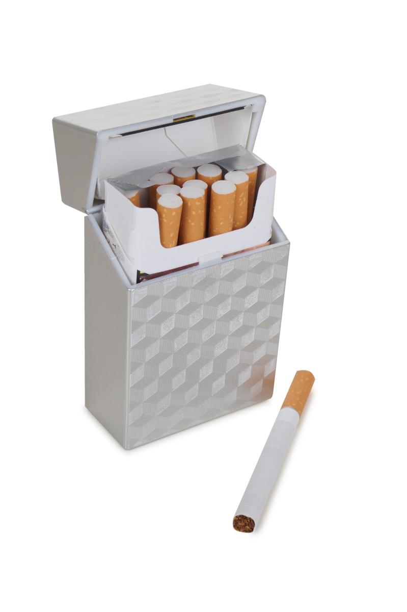 DA16992-Puzdro na cigarety strieborné