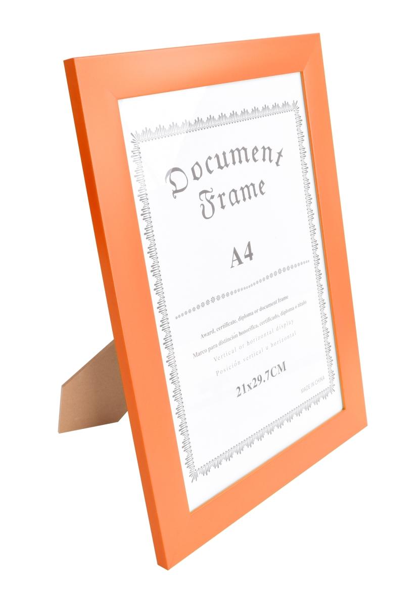 Dřevěný fotorámeček oranžový na foto 21 x 30 cm