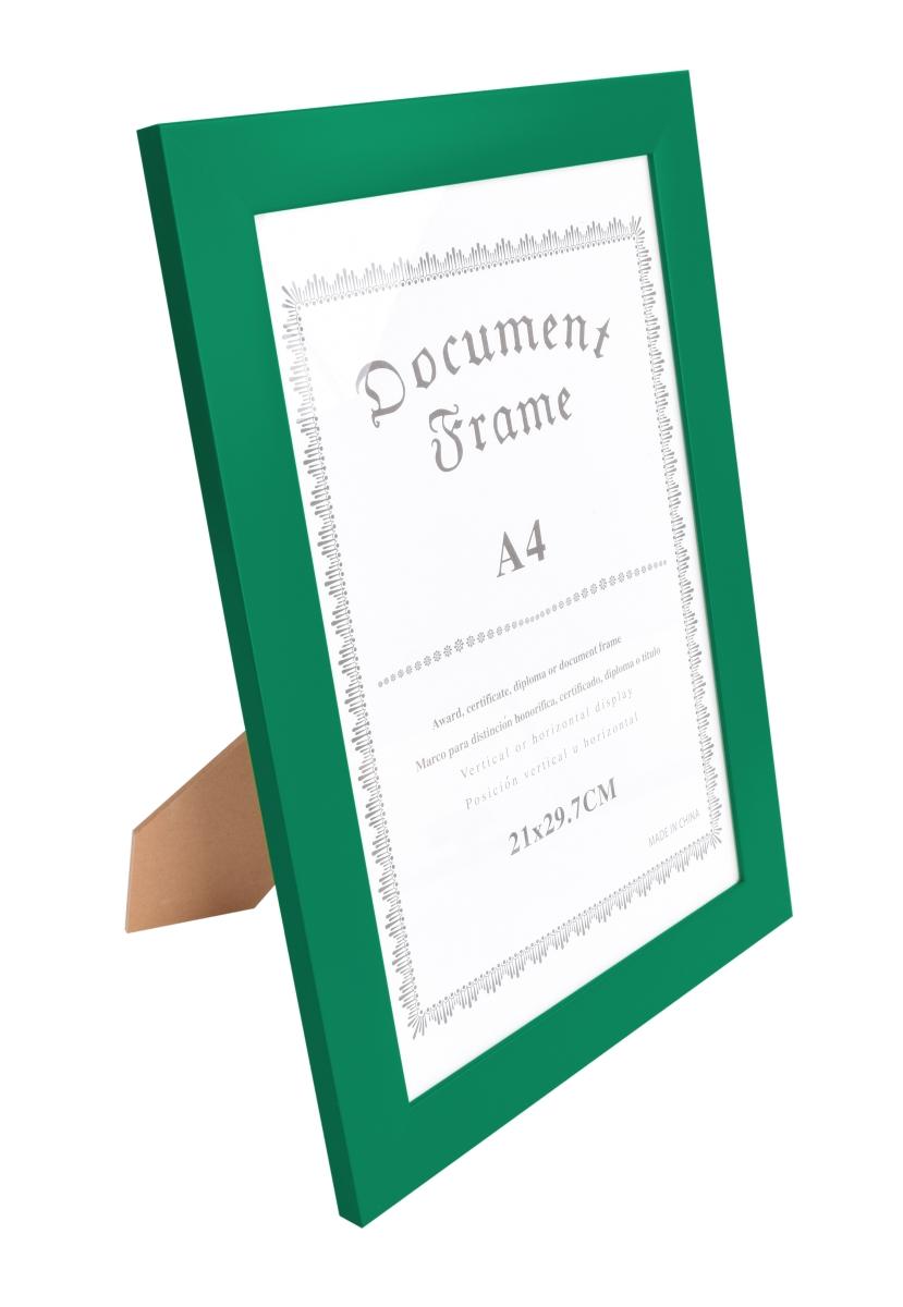 Dřevěný fotorámeček tmavě zelený s patinou na foto 21 x 30 cm