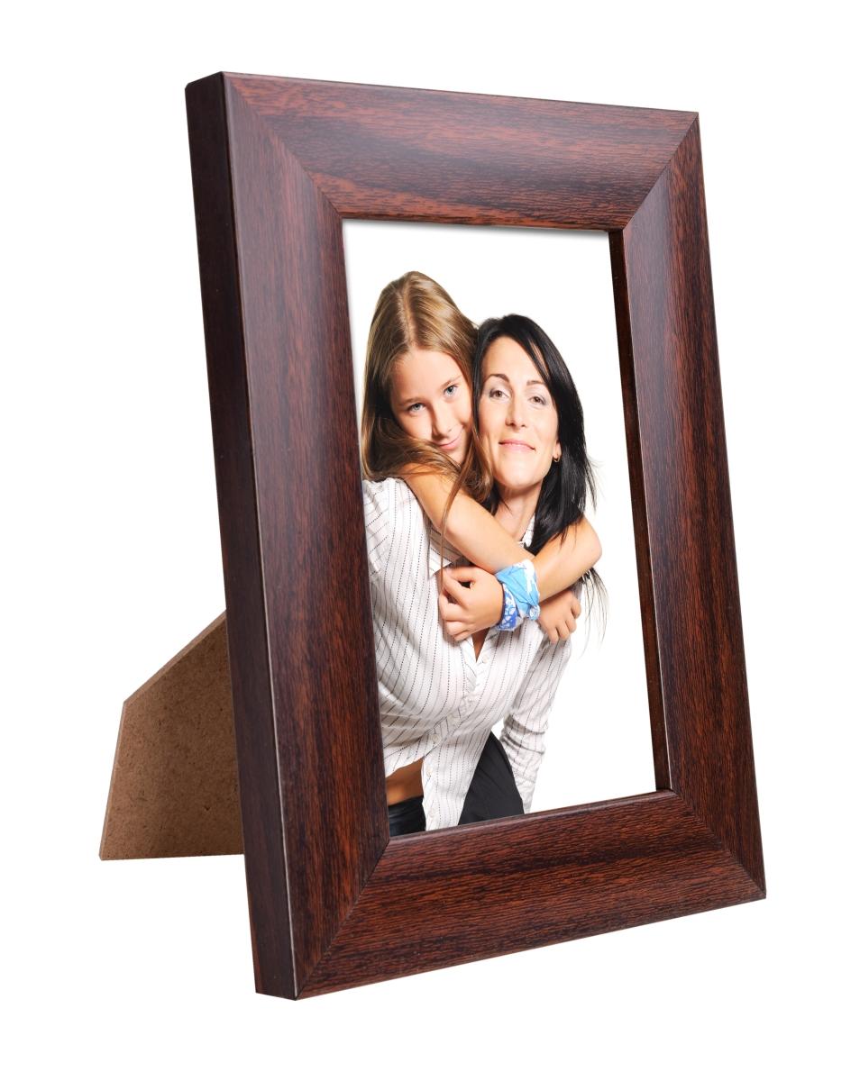 Dřevěný fotorámeček mahagonový na foto 10 x 15 cm
